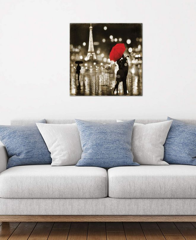 """iCanvas """"A Paris Kiss"""" by Kate Carrigan Gallery-Wrapped Canvas Print (18 x 18 x 0.75)"""