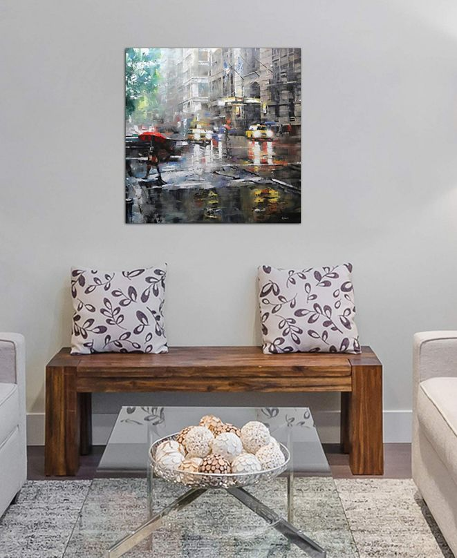 """iCanvas """"Manhattan Red Umbrella"""" by Mark Lague Gallery-Wrapped Canvas Print (18 x 18 x 0.75)"""