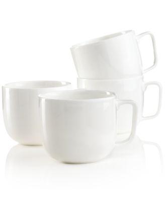Hotel Collection Dinnerware, Set of 4 Bone China Mugs