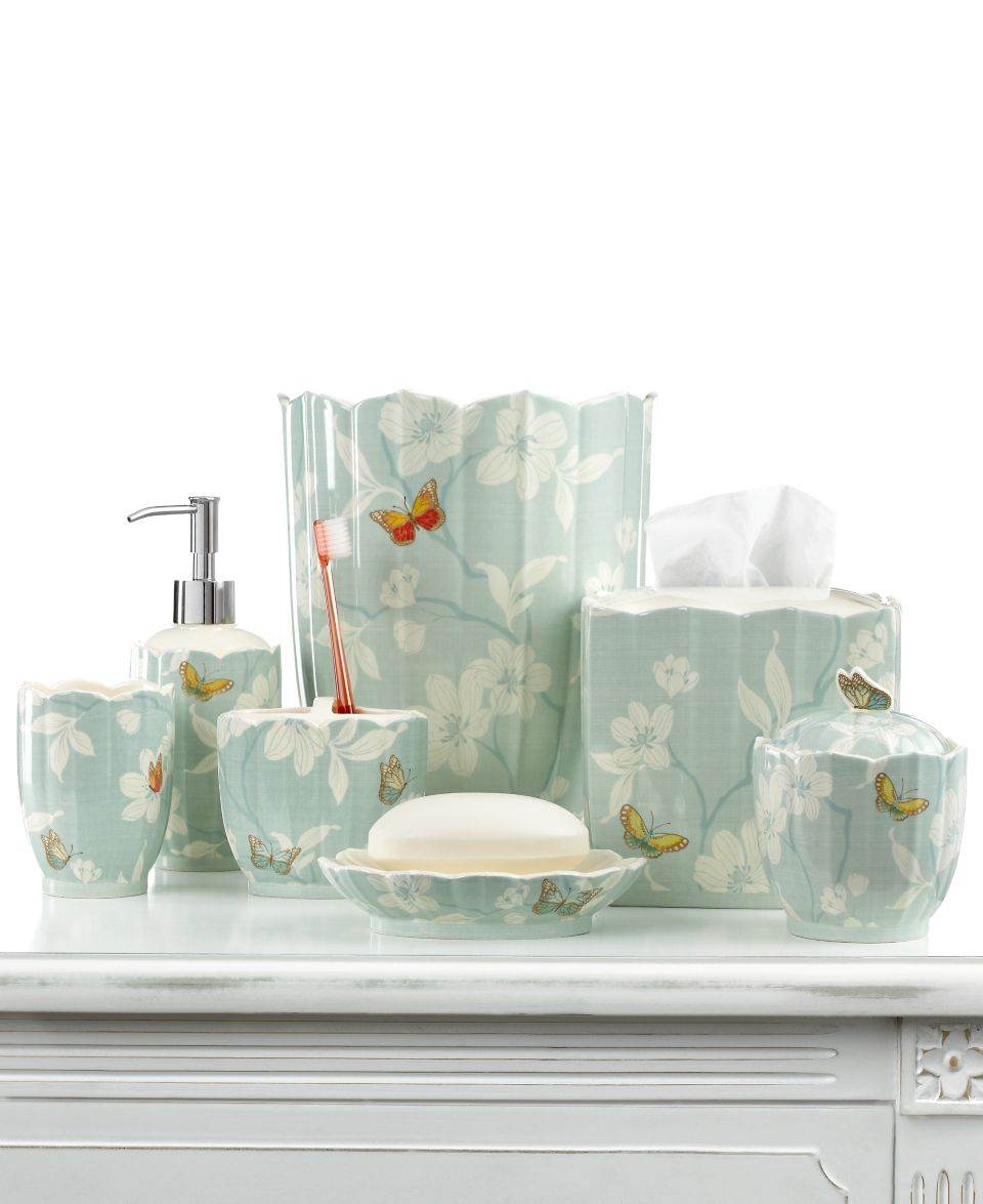. Martha Stewart Collection Bath Accessories  Mariposa Soap Dish on