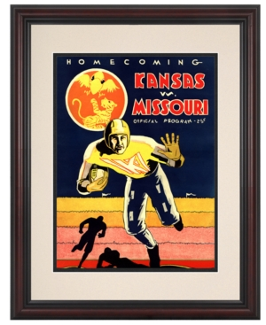 Mounted Memories Wall Art, Framed Kansas vs Missouri Football Program Cover 1931