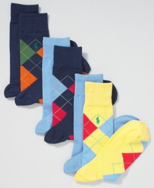 Polo Ralph Lauren Socks, Cotton Argyle Dress Socks 2 Pack