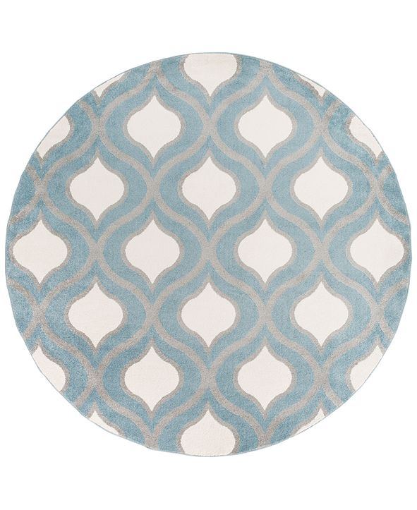 "Surya CLOSEOUT!  Horizon HRZ-1036 Denim 7'10"" Round Area Rug"