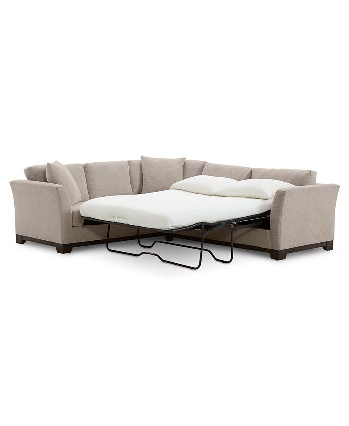 Furniture Elliot Ii 108 Fabric 2 Pc Sleeper Sofa Sectional Created For Macy S Reviews Furniture Macy S