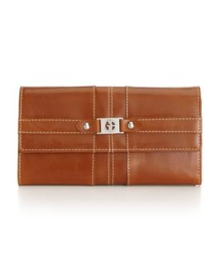 Giani Bernini Handbag, Glazed Flap Clutch Trifold