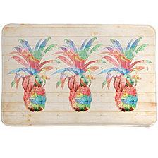 Colorful Pineapple Memory Foam Rug