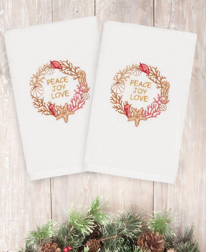 Linum Home - Christmas Peace 100% Turkish Cotton 2-Pc. Hand Towel Set