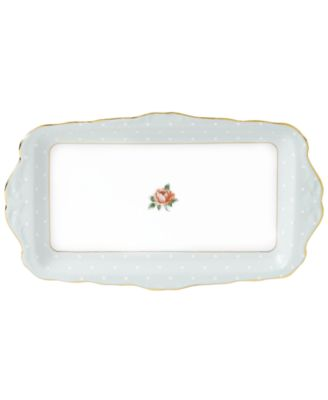 Royal Albert Dinnerware, Old Country Roses Polka Rose Sandwich Tray