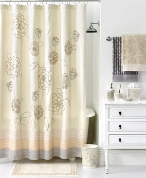 Martha Stewart Collection Accessories, Calendula Shower Curtain