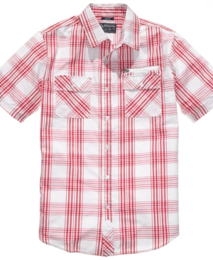 American Rag Shirt, Short Sleeve EOE Plaid