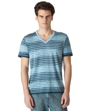 Calvin Klein Jeans T Shirt, Ombre Stripe V Neck