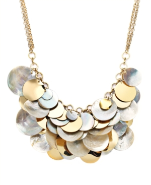 Style&co. Necklace, Multi Metallic Shell Necklace