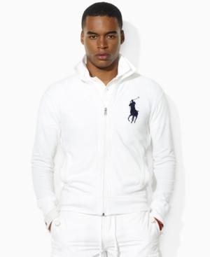Polo Ralph Lauren Track Jacket, Full Zip Cotton Mesh Track Jacket