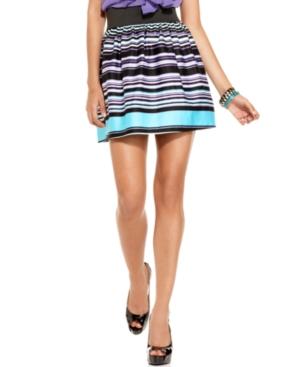 BCX Skirt, Striped A-Line Mini