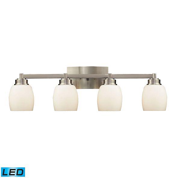 ELK Lighting Northport 4-Light Vanity in Satin Nickel - LED, 800 Lumens (3200 Lumens Total) with Full Scale Dimming Range