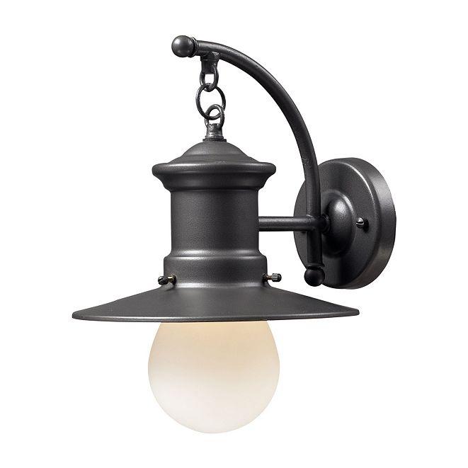 ELK Lighting Maritime 1-light Outdoor Sconce in Graphite