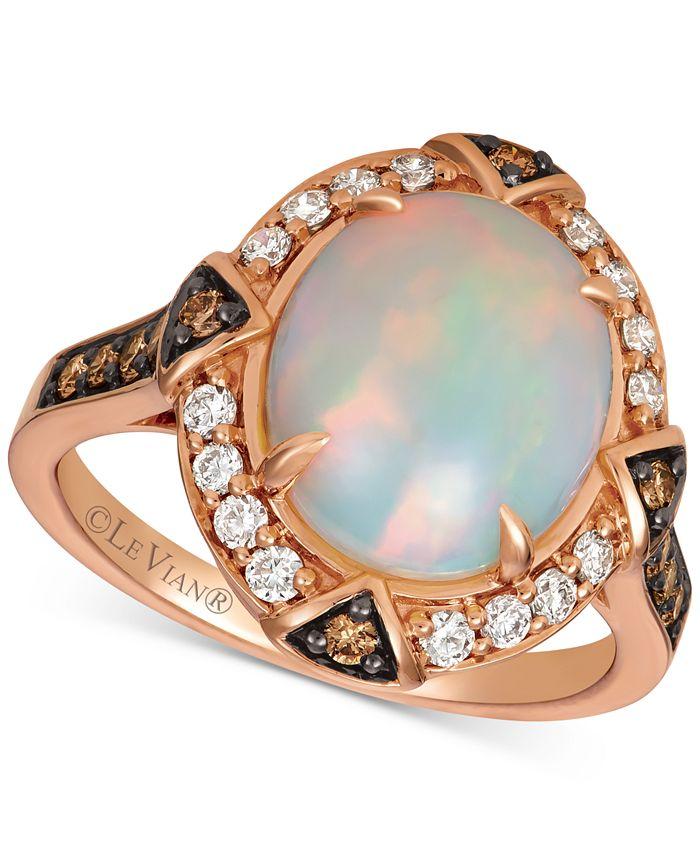 Le Vian - Opal (2-1/5 ct. t.w.) & Diamond (1/2 ct. t.w.) Ring in 14k Rose Gold