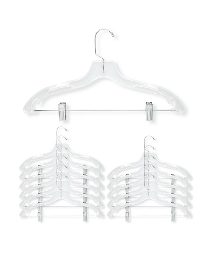 Honey Can Do - 12-Pc. Crystal Suit Hangers with Clips