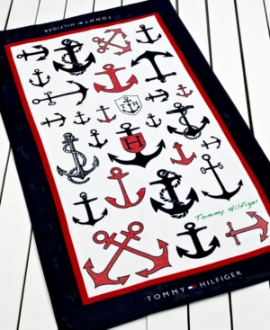 Tommy Hilfiger Towels, Anchors Beach Towel