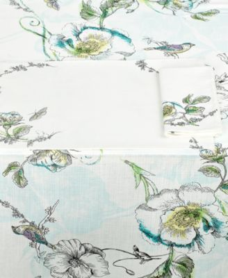 "Edie Rose by Rachel Bilson Table Linens, Bloom 52"" x 52"" Tablecloth"