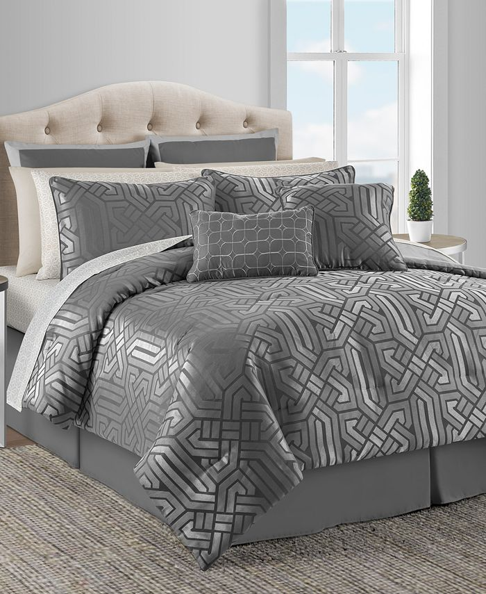 Sunham Closeout Dekalb 20 Pc Taupe King Comforter Set Reviews Bed In A Bag Bed Bath Macy S