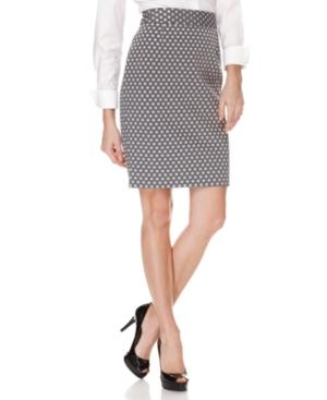 Calvin Klein Skirt, Polka Dot Pencil