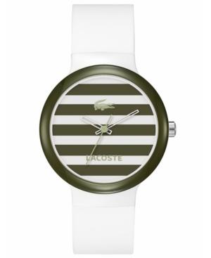Lacoste Watch, Goa White Silicone Strap 40mm 2020024