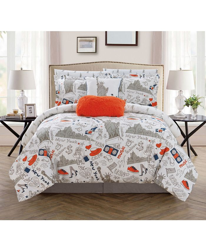 Chic Home - Liberty 9-Pc. Bed In a Bag Comforter Sets