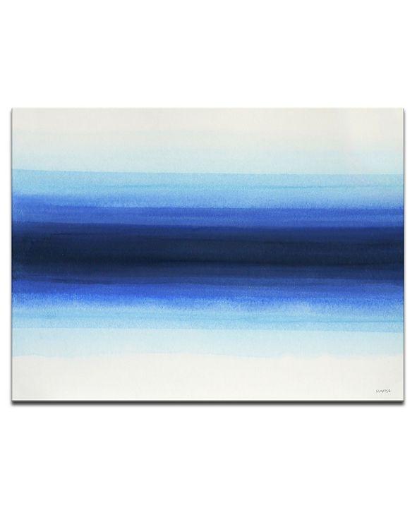 """Ready2HangArt 'Deepest' Blue Abstract Canvas Wall Art, 20x30"""""""