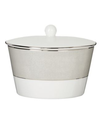 Monique Lhuillier Waterford Dinnerware, Stardust Covered Sugar Bowl