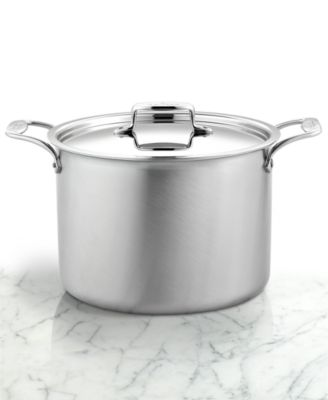 All-Clad BD5 Brushed Stainless Steel 12 Qt. Covered Stockpot