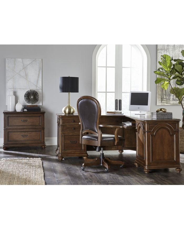 Furniture Clinton Hill Cherry Home Office Writing Desk & Reviews - Furniture - Macy's