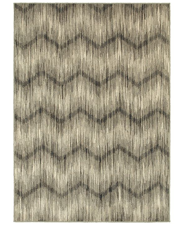 """Oriental Weavers Highlands 6608A Gray/Ivory 5'3"""" x 7'6"""" Area Rug"""