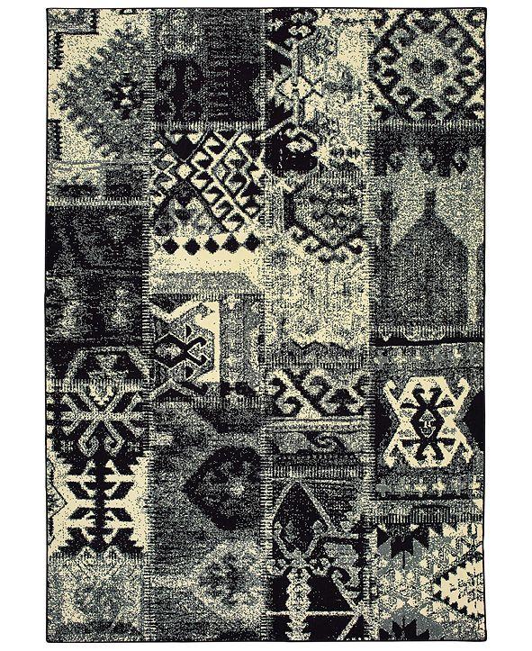 "Oriental Weavers Luna 1804K Black/Ivory 9'10"" x 12'10"" Area Rug"