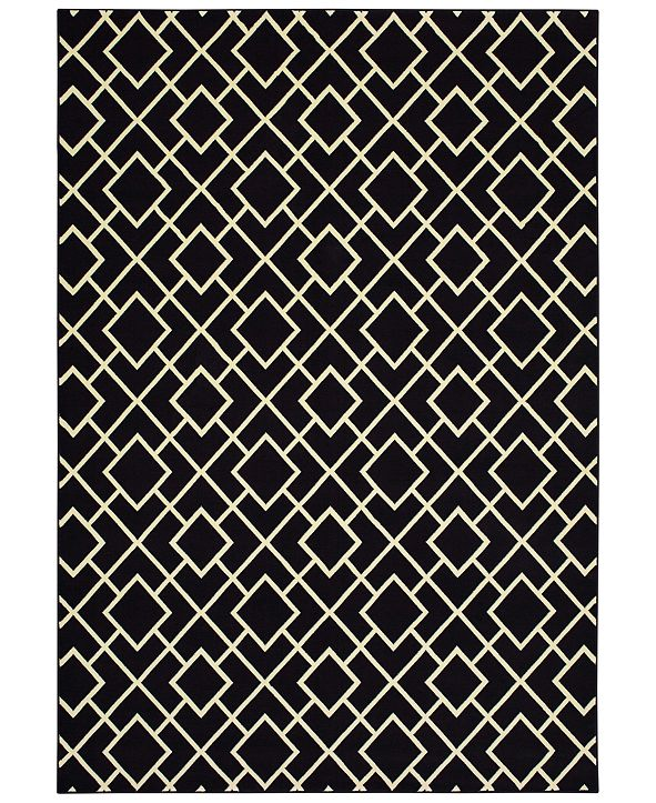 "Oriental Weavers Luna 8123B Black/Ivory 3'10"" x 5'5"" Area Rug"