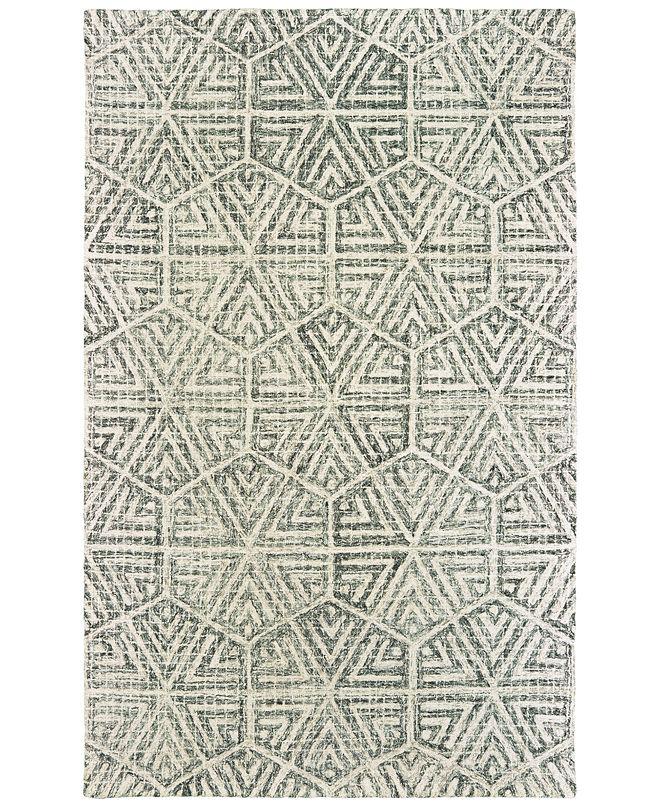 "Oriental Weavers Tallavera 55605 Gray/Ivory 2'6"" x 8' Runner Area Rug"