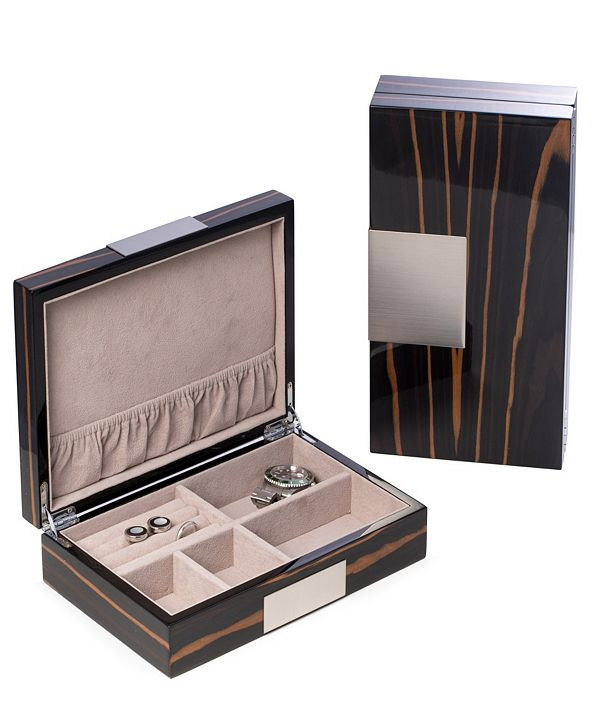 Bey-Berk Wood Valet Box