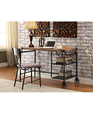 Furniture of America Jonathan Writing Desk with Casters – Great space saver