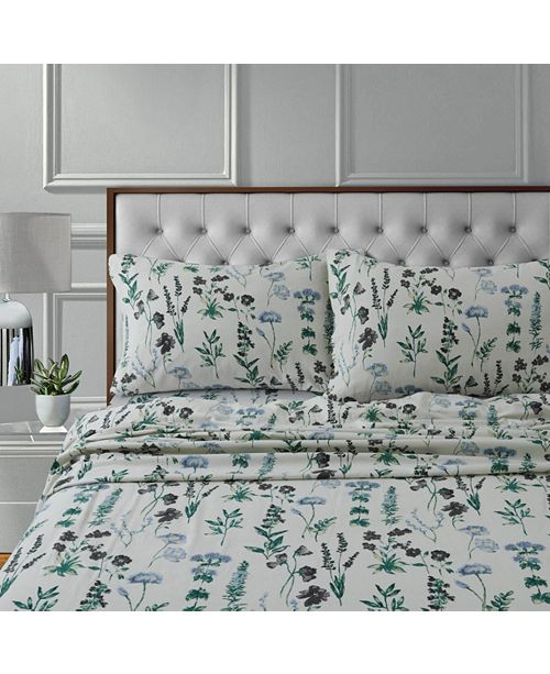 Tribeca Living Fleur 170 GSM Cotton Flannel Printed Extra Deep