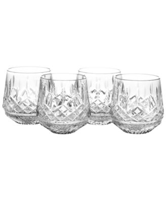 Waterford Barware, Lismore Old Fashioned Glasses, Set of 4