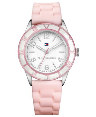Tommy Hilfiger Watch, Women's Pink Silicone Strap 44mm 1781185