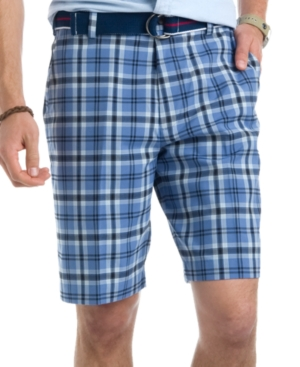 Izod Shorts, Large Plaid Flat Front Shorts