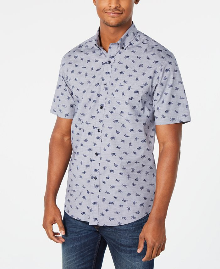 Club Room - Men's Lyden Turtle Graphic Shirt