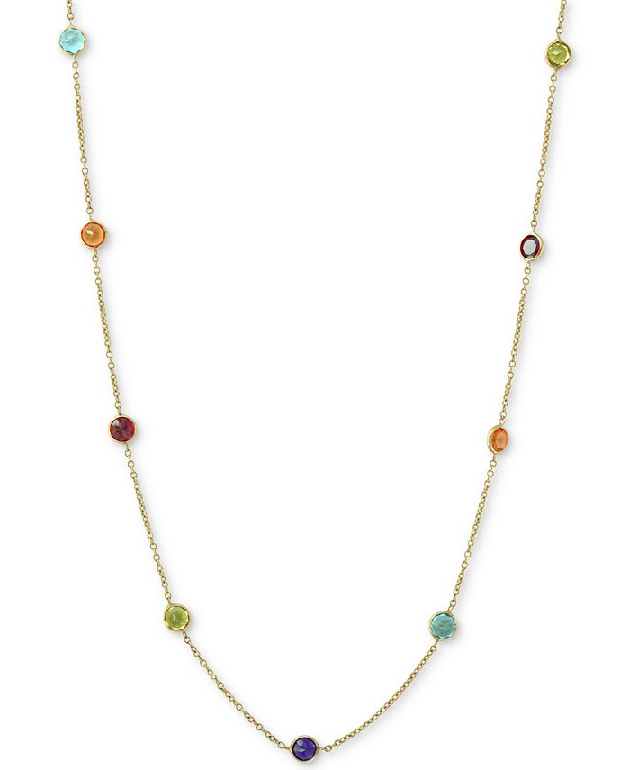 """EFFY Collection - Multi-Gemstone 36"""" Statement Necklace (6-1/2 ct. t.w.) in 14k Gold"""