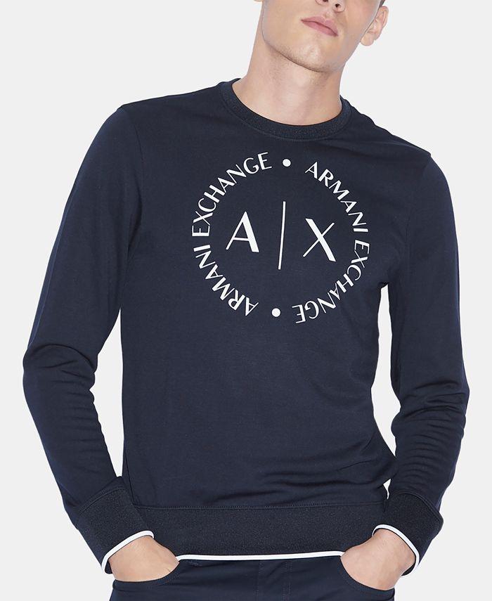 A X Armani Exchange -  X  Circle Logo Sweatshirt