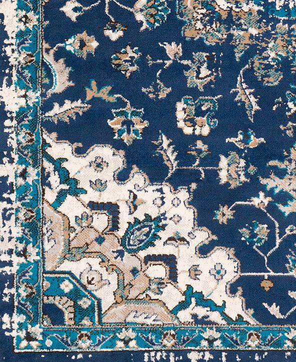 """Surya Clairmont CMT-2314 Navy 18"""" Square Swatch"""