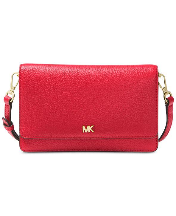 Michael Kors Mott Pebble Leather Phone Crossbody Wallet