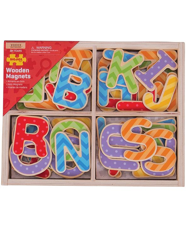 Bigjigs Toys Wooden Magnets - Uppercase Letters