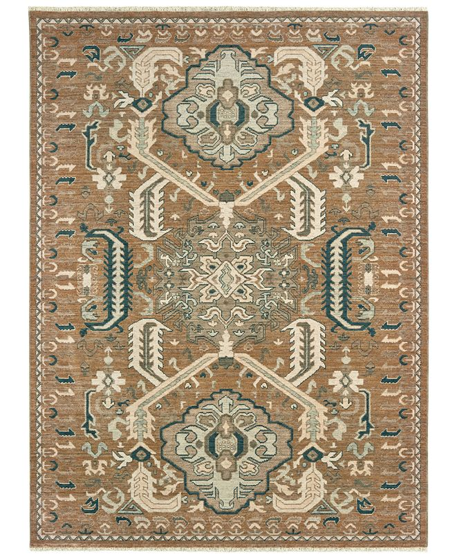 "Oriental Weavers Anatolia 2060W Rust/Teal 5'3"" x 7'6"" Area Rug"