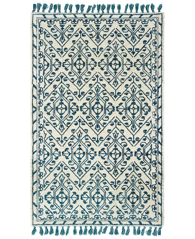 "Oriental Weavers Madison 61408 Ivory/Blue 2'6"" x 8' Runner Area Rug"
